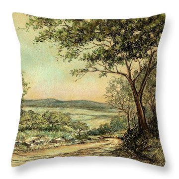 Sunny Bushveld Throw Pillow by Heidi Kriel