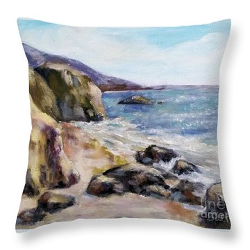 Sunny Coast Throw Pillow
