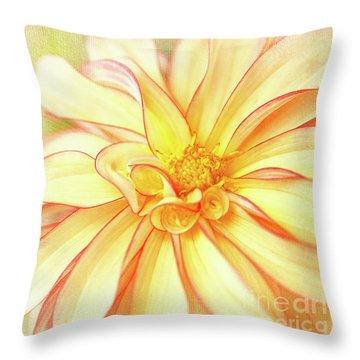 Sunny Dahlia Throw Pillow