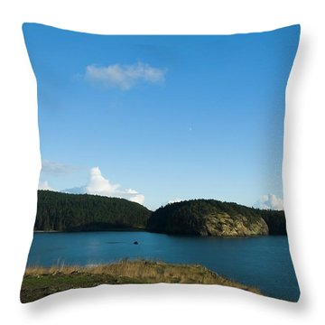 Throw Pillow featuring the photograph Sunny Day At Bowman Bay Park by Yulia Kazansky