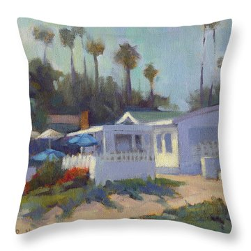 Sunny Day At Crystal Cove Throw Pillow