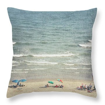 Sunny Day At North Myrtle Beach Throw Pillow
