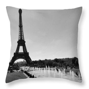 Sunny Day In Paris Throw Pillow by Kamil Swiatek