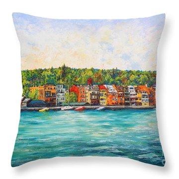 Summer In Skaneateles Ny Throw Pillow
