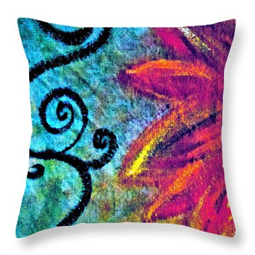 Sunny Day Purple Throw Pillow by Gwyn Newcombe