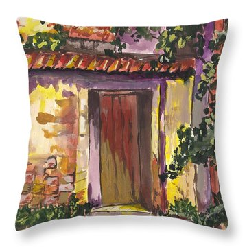 Sunny Doorway Throw Pillow by Darren Cannell