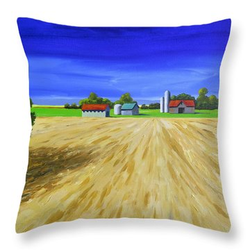 Sunny Fields Throw Pillow