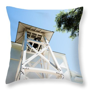 Throw Pillow featuring the photograph Sunny Game Day In Athens by Parker Cunningham
