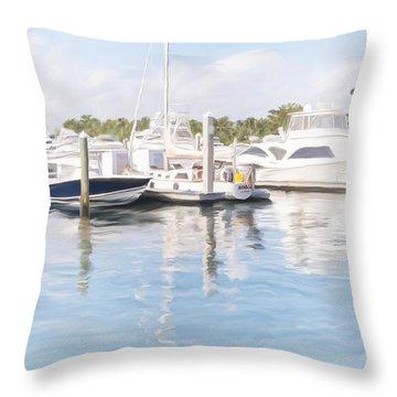 Sunny Harbor Throw Pillow