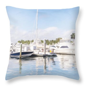 Sunny Harbor Throw Pillow
