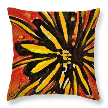 Sunny Hues Watercolor Throw Pillow