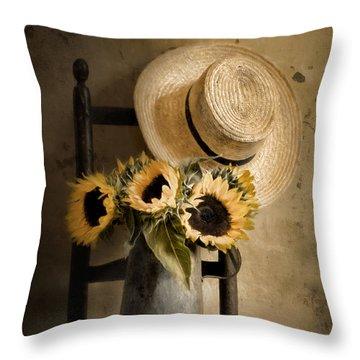 Sunny Inside Throw Pillow
