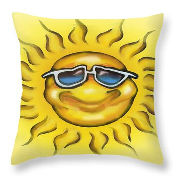 Sunny Throw Pillow by Kevin Middleton