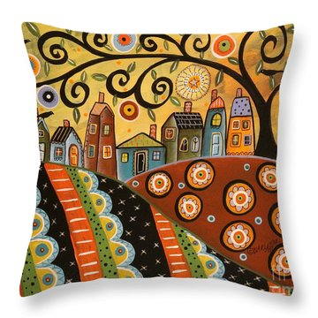Sunny Landscape Throw Pillow by Karla Gerard