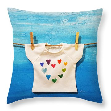 Sunny Love Throw Pillow