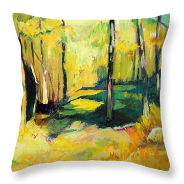 Sunny Meadow Throw Pillow