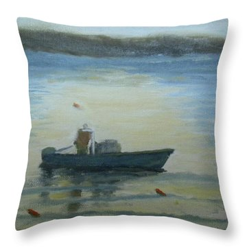 Sunny Morning And Lobster Throw Pillow
