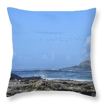 Throw Pillow featuring the photograph Sunny Morning At Roads End by Peggy Hughes