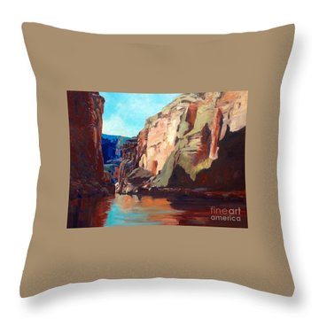 Sunny Morning On The Mighty Colorado Throw Pillow
