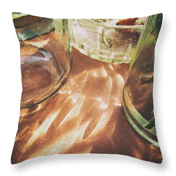 Throw Pillow featuring the photograph Sunny Morning by Steven Huszar