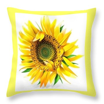 Sunny Throw Pillow by Now