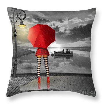 Sunny Outlook Throw Pillow by Monika Juengling