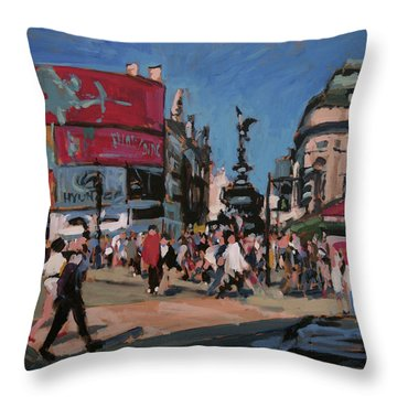 Sunny Piccadilly Throw Pillow