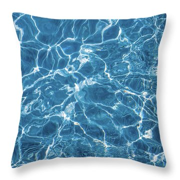 Throw Pillow featuring the photograph Sunny Reflections On Tropical Water by Jenny Rainbow