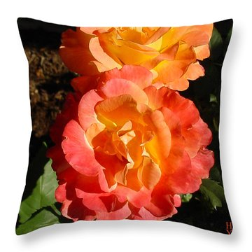 Sunny Roses Throw Pillow by Shirley Heyn