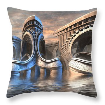 Sunny Saturday Throw Pillow by Hal Tenny
