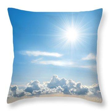 Sunny Sky Throw Pillow by Carlos Caetano