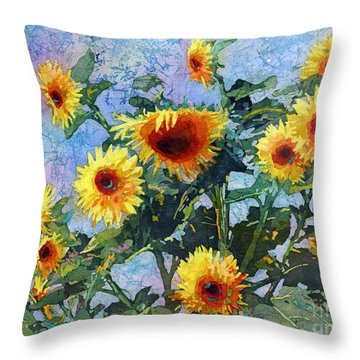 Throw Pillow featuring the painting Sunny Sundance by Hailey E Herrera