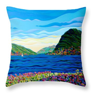 Sunny Swiss-scape Throw Pillow