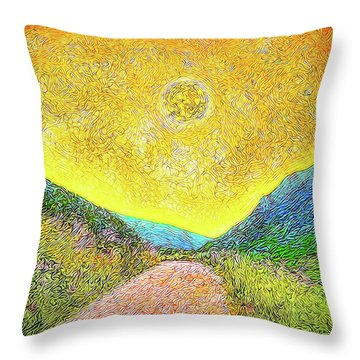 Sunny Trail - Marin California Throw Pillow by Joel Bruce Wallach