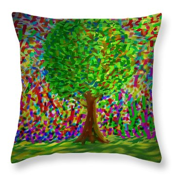 Sunny Tree Throw Pillow