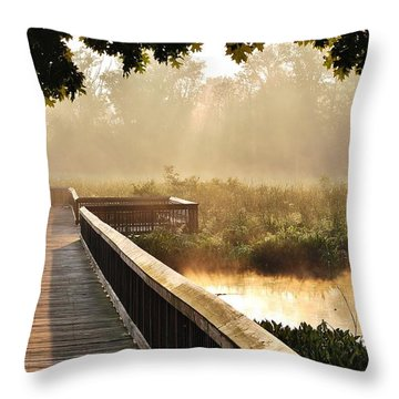 Sunny Walk Throw Pillow