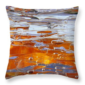 Sunny Water 1 Throw Pillow by Sami Tiainen