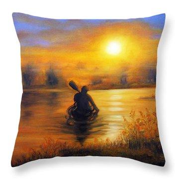 Sunny Way Throw Pillow