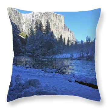 Throw Pillow featuring the photograph Sunny Winter Day 01 13 17 by Walter Fahmy
