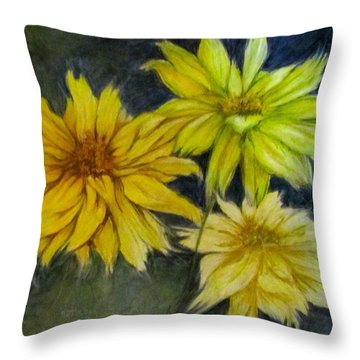 Sunny Yellow Throw Pillow