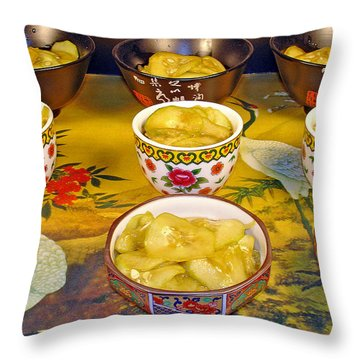 Sunomono In Japanese Teacups Throw Pillow