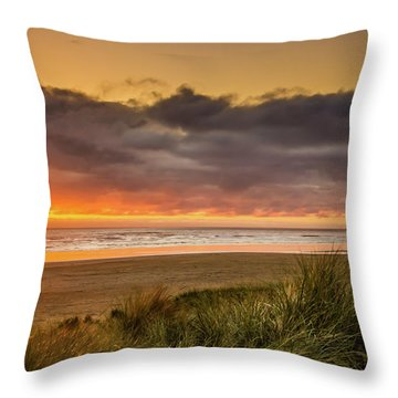 Sunrays Over Manzanita Throw Pillow