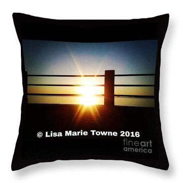 Sunrise @ The Battery Throw Pillow