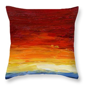 Sunrise #22 Throw Pillow by Fred Wilson