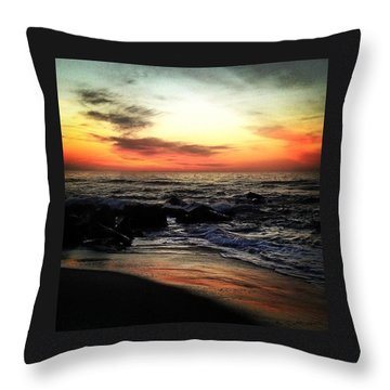 Spring Sunrise Throw Pillow by Lauren Fitzpatrick