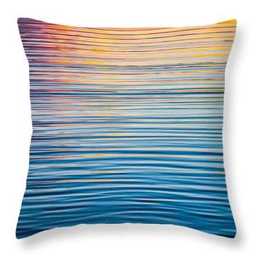 Sunrise Abstract On Calm Waters Throw Pillow by Parker Cunningham