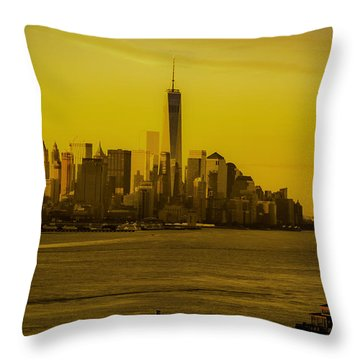 Sunrise Across The Hudson Throw Pillow