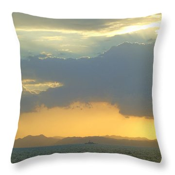 Sunrise After The Typhoon Throw Pillow