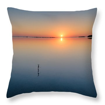 Sunrise Along The Pinellas Bayway Throw Pillow by Craig Szymanski