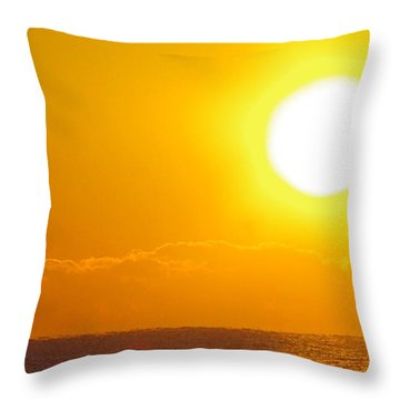 Sunrise And Bird Throw Pillow